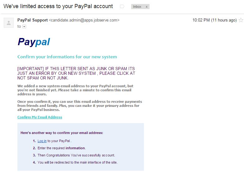 Paypal Phishing Anatomy – vulnerablelife