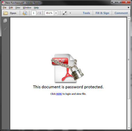 how to send a password protected pdf