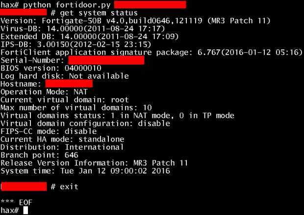 Someone Just Leaked Hard-Coded Password Backdoor for Fortinet Firewalls